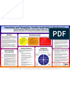 Checklists and Templates - Final | Quality Assurance | Audit