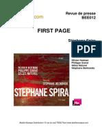 """Revue de presse de l'album """"First page"""" de Stéphane Spiran (BEE012)"""