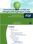 Successful Adoption of CNG and Emerging CNG-H2Program in India