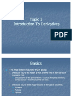 Topic 1 Intro to Derivatives