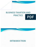 Business Taxation and Practice - Chapter 1