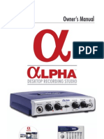 Alpha Manual 18 0346V D