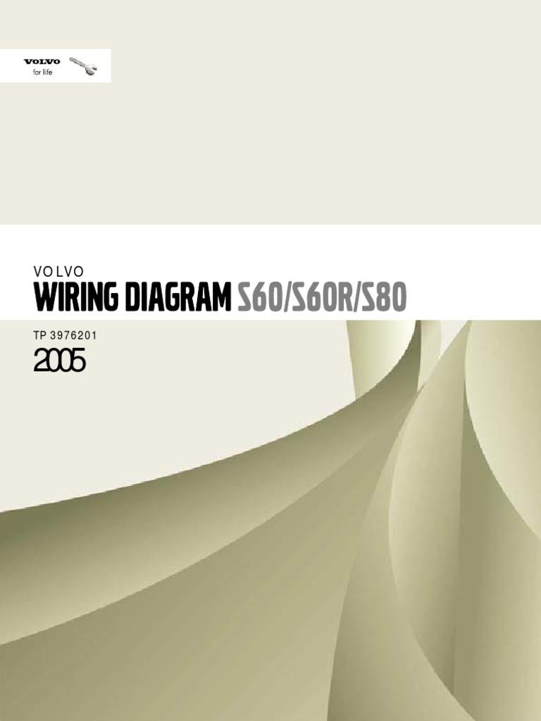 Volvo S60 S60R S80 Wiring Diagram | Airbag | Throttle | Volvo S60 Window Wiring Diagram |  | Scribd