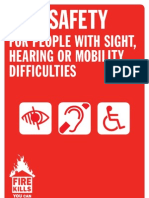 Fire Safety for People With Sight Hearing or Mobility