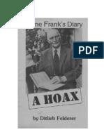 Felderer, Ditlieb - Anne Frank's Diary - A Hoax (en, 1978, 80 S., Text)