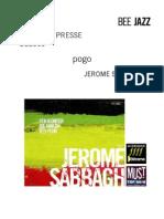 """Revue de presse de l'album """"Pogo"""" de Jérome Sabbagh (BEE019)"""