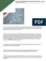 Funciones Roles y Perfiles de Los Profesores en Entornos Tecnologicos