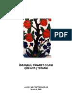 İstanbul  Ticaret Odası Çini Araştırması