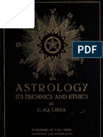 Astrology Its Techniques and Ethics