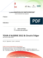 Pre Inscription tour D'algerie