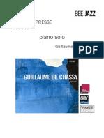 "Revue de presse de l'album ""Piano solo"" de Guillaume de Chassy (BEE021)"