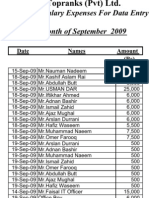 Petty Cash 2009 Main File (Data Entry)
