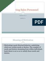 Motivating Sales Personnel