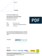 E-Commerce-Report Schweiz 2011
