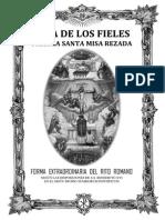 GUÍA DE LOS FIELES PARA LA SANTA MISA REZADA. P. Ribera