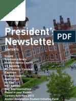 President's Newsletter (Jan 12)