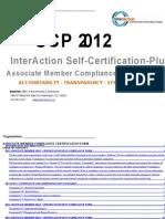 2012 Associate Member Self-Certification-Plus Compliance Form