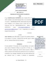 Processo Ciampolillo Anzà comparsa di risposta RG 9916 2011 CIAMPOLILLO ANZà comp.Risposta 18 12 11