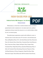 Political Parties Will Disappear - On Lifechanyuan Era4 - the Millennium after 2013