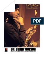 DR. BENNY GOLSON - Saturday, February 25th In The Blue Room