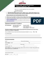 Seneca Summer Camps Employment Application 2012