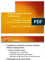 Secure Campus Wireless Architecture