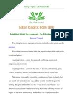 Establish Global Government - On Lifechanyuan Era 7- the Millennium after 2013