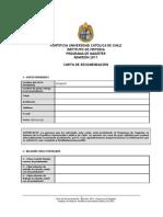 Mag Formula Rio Carta Recomendacion Admision 2011