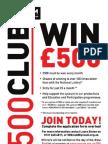 500 Club Application Form