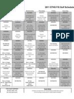 2011 eths f-s golf schedule