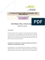 Hume David - Dios y El Hecho Religioso