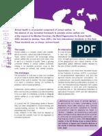 OIE fact sheet - animal welfare