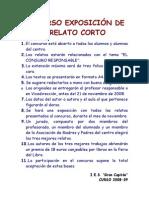 Concurso Exposición de Relato Corto 2008-09