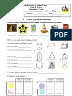 1ª Ficha de avaliação 5º sólidos -5º3 e 5º4