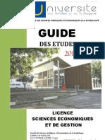 Guide des études Licence Sciences Economiques et de Gestion