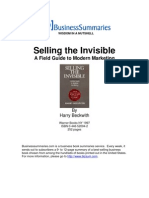 Selling the Invisible BIZ
