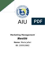 NESTLE Marketing Management