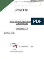 Sample Supplier Quality Assesment Questionnaire