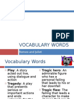 Romeo and Juliet Vocabulary Words