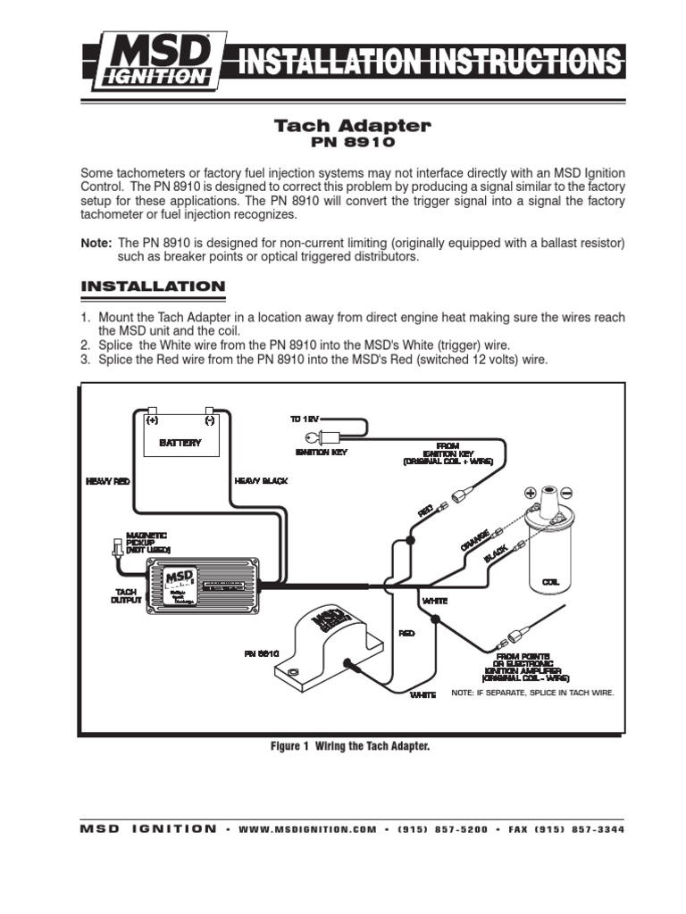 Msd Tach Adapter Wiring Diagram - Search Wiring Diagrams Mallory Tach Adapter Wiring on
