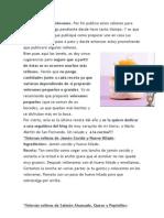Pinxos y Tapas; Recetaas