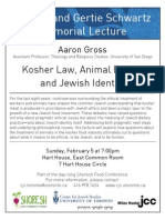 Shoresh Food Conference FREE Evening Lecture