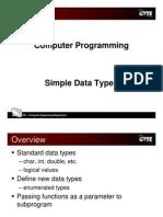 C programming language - simple data types