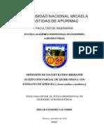 OBTENCIÓN DE YOGURT BATIDO MEDIANTE SUSTITUCIÓN PARCIAL DE LECHE FRESCA CON EXTRACTO DE KIWICHA