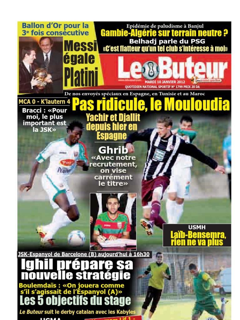 LE BUTEUR PDF du 10/01/2012   Lionel Messi   Fc Barcelona