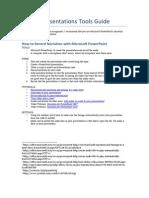 Virtual Presentations Tools Guide