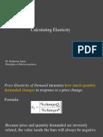 Principles of Microeconomics - Lecture - Calculating Elasticity