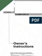 Plasma - Samsung 5884 Manual