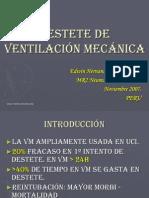 Destete de Ventilacion Mecanica