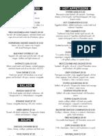 Dinner Menu PDF